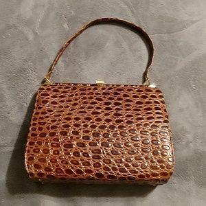 Vintage tortoise style clasp purse